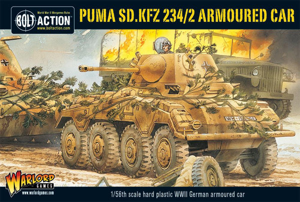 Bolt Action WWII Puma Sd.Kfz 234/2 Armoured Car