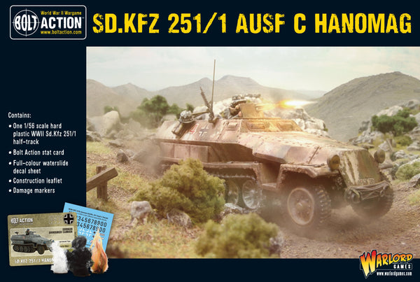 Bolt Action WWII Sd.Kfz 251/1 Ausf. C Hanomag