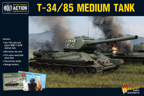 Bolt Action WWII T34/85 Medium Tank