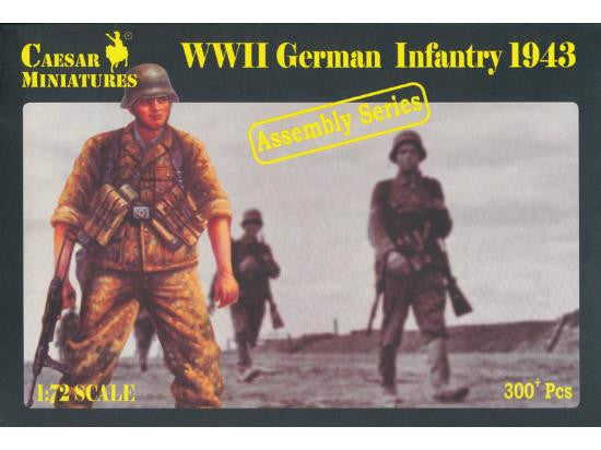 Caesar Miniatures CM7711 WWII German Infantry 1943