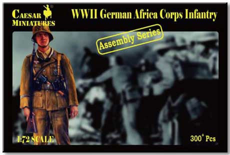 Caesar Miniatures CM7713 WWII German Africa Corps Infantry