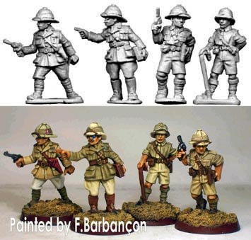 Copplestone Castings - British Officers (BC18)