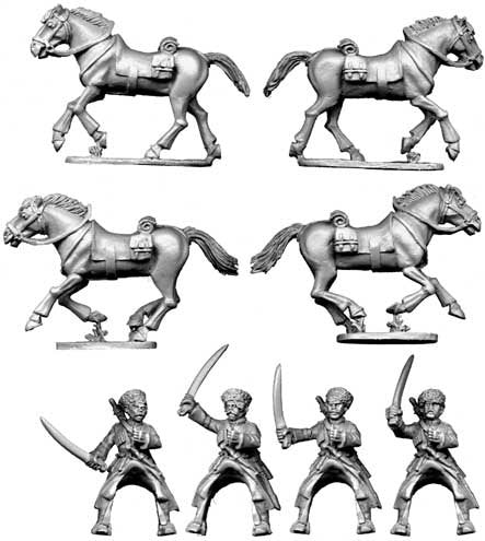 Copplestone Castings - Caucasian Cossack Cavalry (BU35)