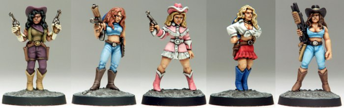 Copplestone Castings - Urban Cowgirls (Future Wars FW33)