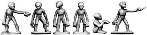 Copplestone Castings - Grey Aliens (Future Wars FW36)