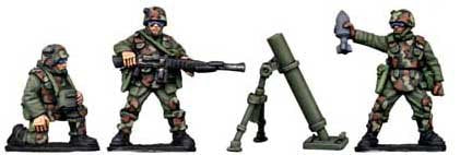 Copplestone Castings - Assault Troop Mortar Team (Future Wars FW28)