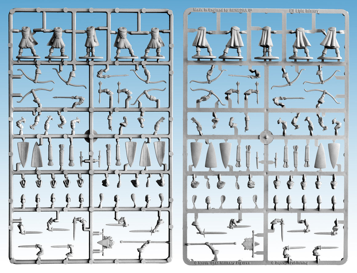 Oathmark Elf Light Infantry Single Sprue