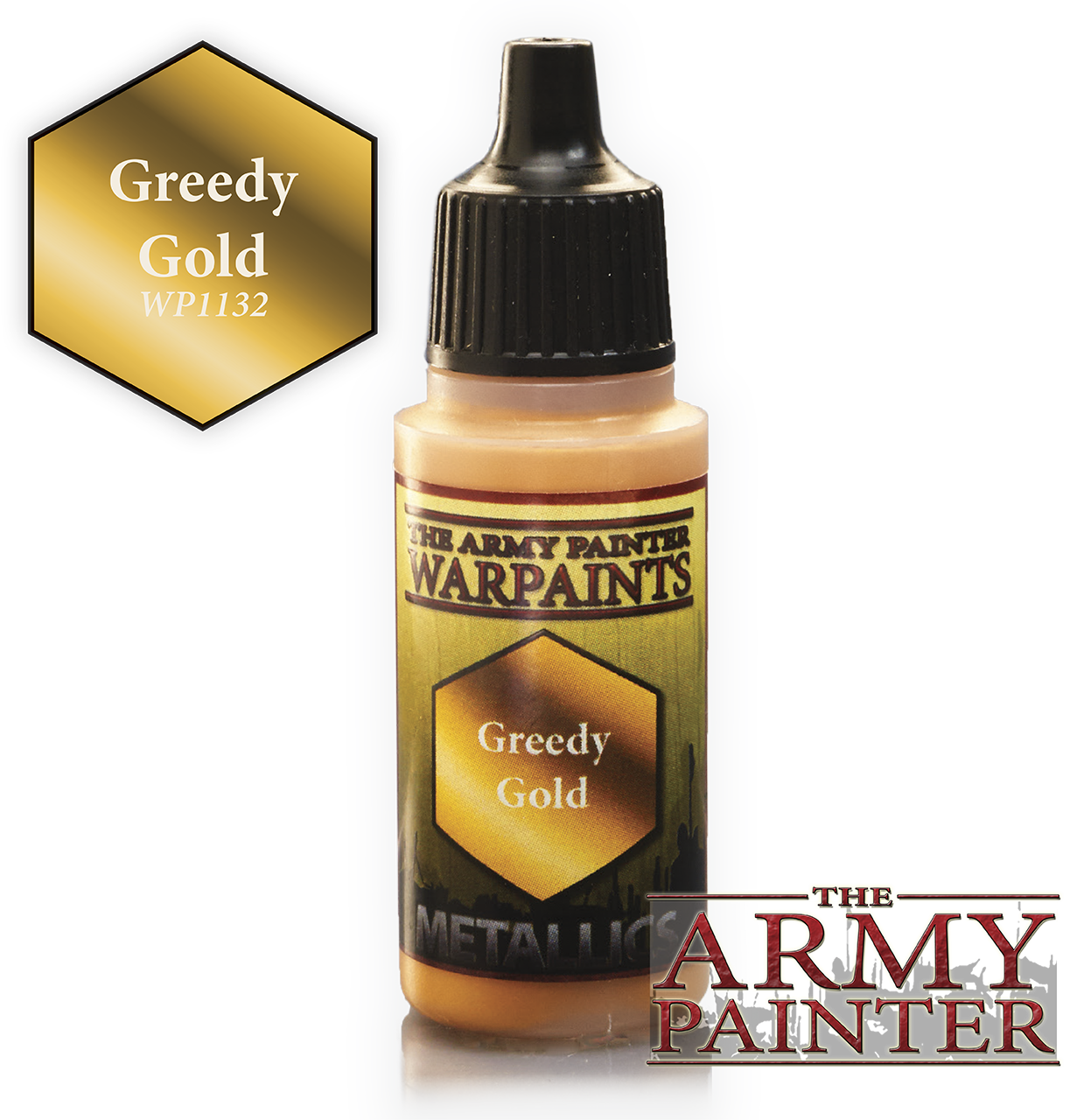 Army Painter Acrylic Warpaint - Greedy Gold