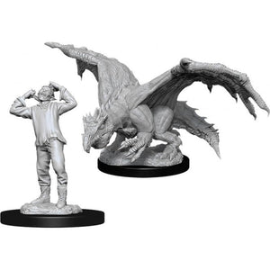 Green Dragon Wyrmling & Afflicted Elf (D&D Nolzur's Marvelous Miniatures)
