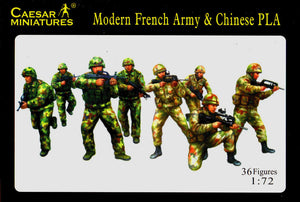 Caesar Miniatures CMH059 Modern French Army with Modern PLA Chinese Army