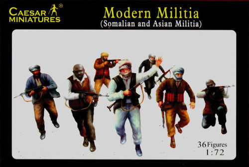 Caesar Miniatures CMH063 Modern Militia (Asian and Somalian Militia)