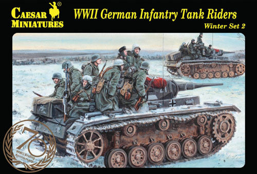Caesar Miniatures CMH079 WWII German Infantry Tank Riders (Winter Set 2)