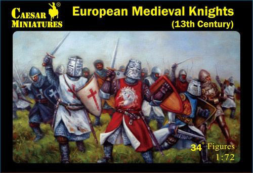 Caesar Miniatures CMH087 European Medieval Knights (13th Century)