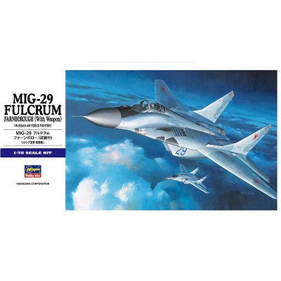 Hasegawa Mikoyan MIG 29 Fulcrum with Weapon HAE11 1/72