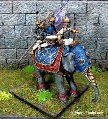 WEELE02 Elephant with spear armed crew