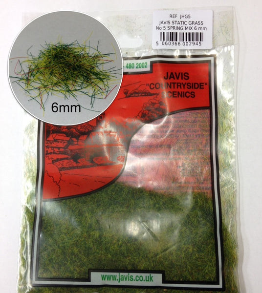 Javis 6mm Static Grass Spring Mix (JHG5)