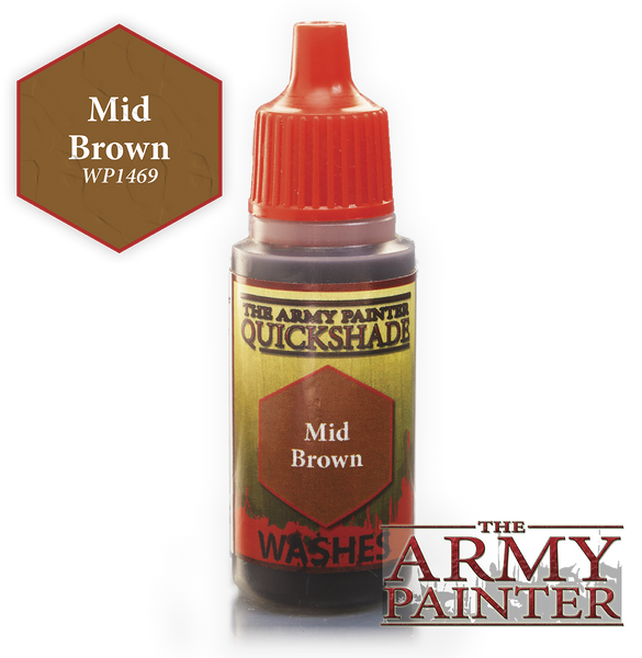 Army Painter Warpaint Wash - Mid Brown