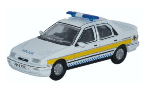 Oxford Diecast Ford Sierra Sapphire Nottinghamshire Police - 76FS002