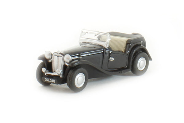 Oxford Diecast MGTC Black - 76MGTC004