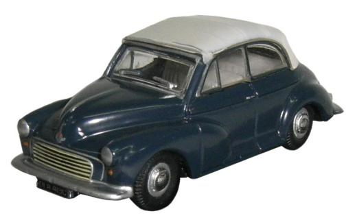 Oxford Diecast - Morris Minor Convertible Closed Trafalger Blue Pearl Grey - 76MMC004