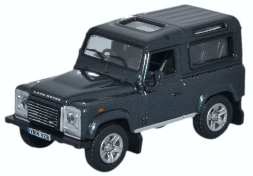Oxford Diecast Land Rover Defender 90 Station Wagon Santorini Black - 76LRDF006