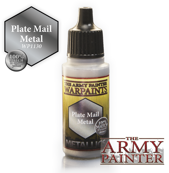 Army Painter Acrylic Warpaint - Plate Mail Metal