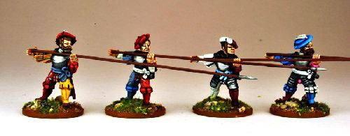 REN004 - Landsknecht Armoured Pikemen Attacking