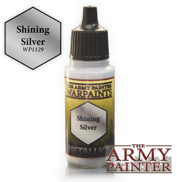Army Painter Acrylic Warpaint - Shining Silver