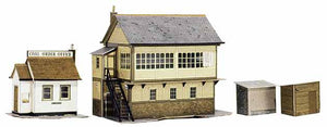 Superquick A06 Signal Box. Coal Order Office and Lineside Huts
