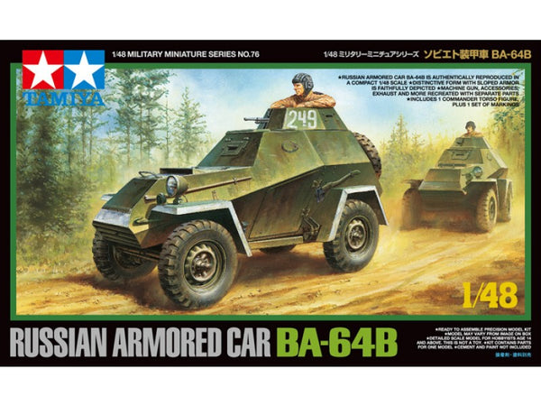 Tamiya 1/48 Russian Armoured Car BA-64B