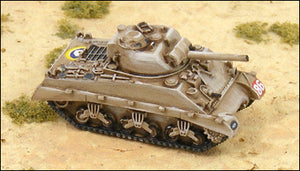 GHQ UK100 M4A2 75mm Sherman w/ Sand Shield