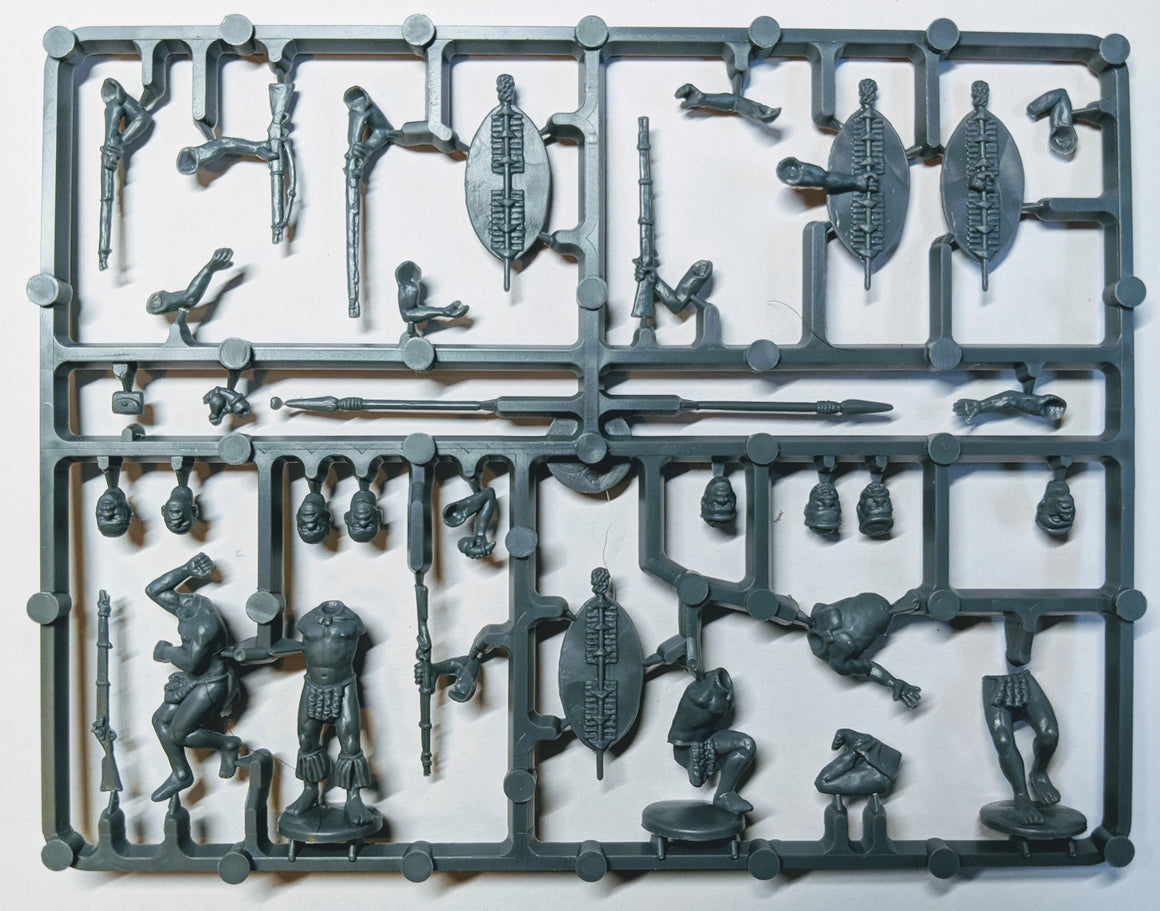 Perry Miniatures Zulus with firearms sprue