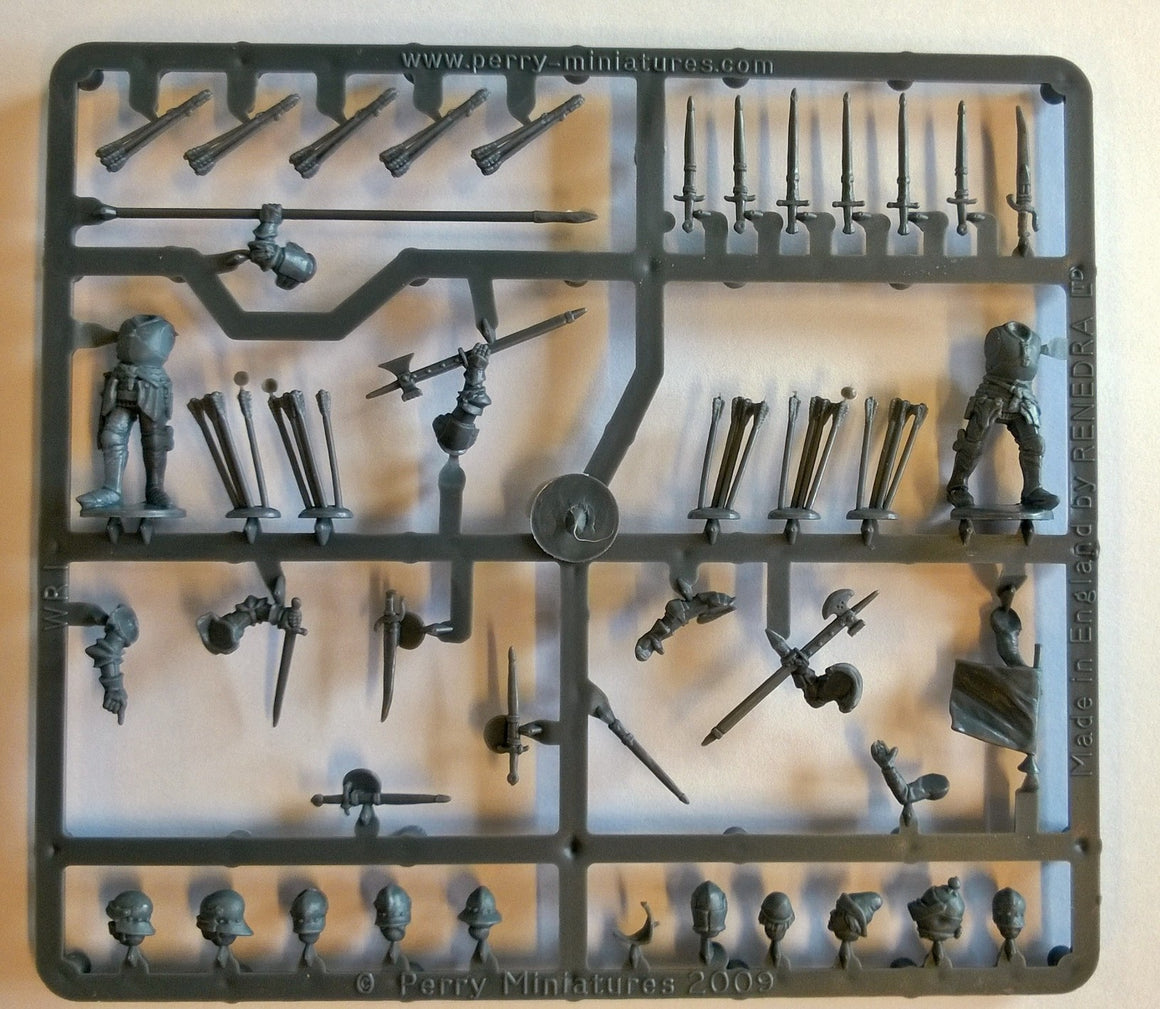 Perry Miniatures Plastic Wars of the Roses Command Sprue