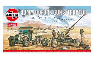 Airfix 1:76 Bofors 40mm Gun and Tractor