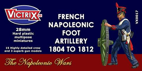 Victrix VX0017 28mm French Napoleonic Artillery 1804 to 1812