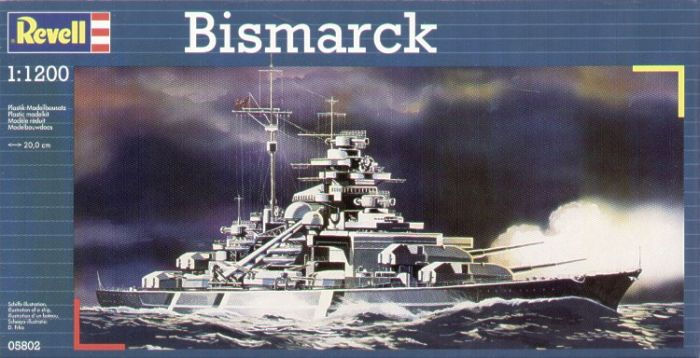 Revell 1/1200 Bismarck Model Set