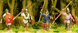 CAR002 - Carolingian Unarmoured Spearmen Advancing