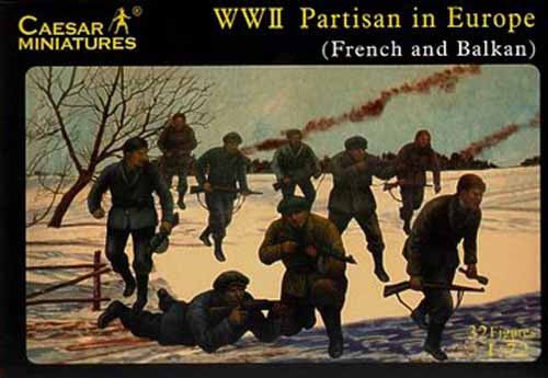Caesar Miniatures CMH056 WWII Partisans in Europe