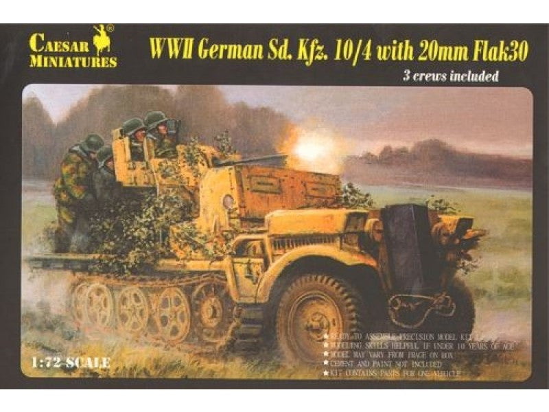 Caesar Miniatures CMH7208 WWII German SdKfz10/4 with Flak30