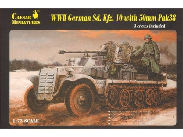 Caesar Miniatures CMH7209 WWII German SdKfz10 with PaK38