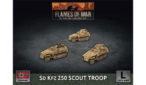 Sd Kfz 250 Scout Troop (Plastic) - Flames of War