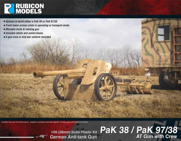 Rubicon Models Pak38/Pak 97/38 Anti-tank Gun with Crew