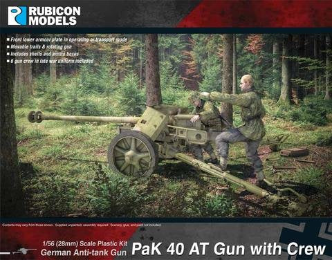 Rubicon Models Pak40 Anti-tank Gun with Crew
