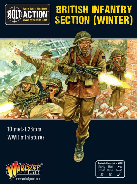 Bolt Action WWII British Infantry Section (Winter)