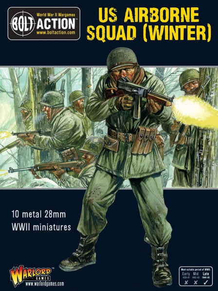 Bolt Action WWII US Airborne Squad (Winter)