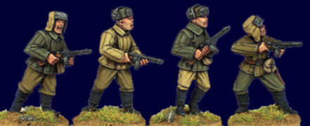SWW402 - Soviet Infantry with SMG I. (fur hats)
