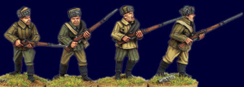 SWW404 - Soviet Infantry with Rifles I. (fur hats)