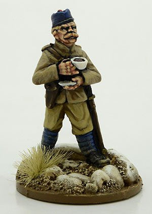 NWF0010a - British Officer with Cup of Tea