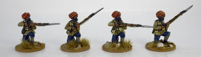 NWF0107 - Sikh Infantry Kneeling. 2nd Afghan War
