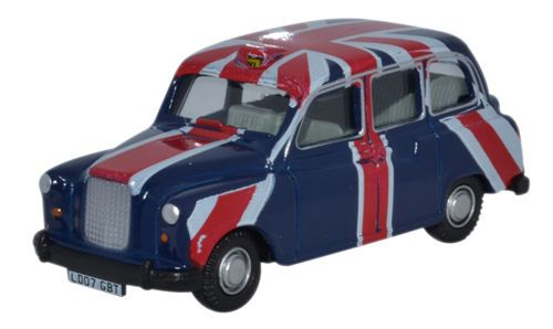 Oxford Diecast FX4 Taxi Union Jack - 76FX4006